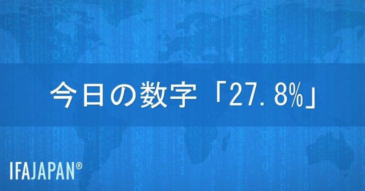 今日の数字「27.8%」-IFA-JAPAN-Blog