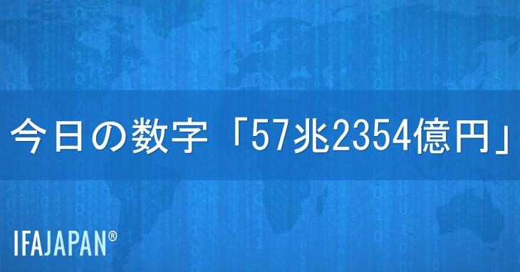 今日の数字「57兆2354億円」---IFA-JAPAN-Blog