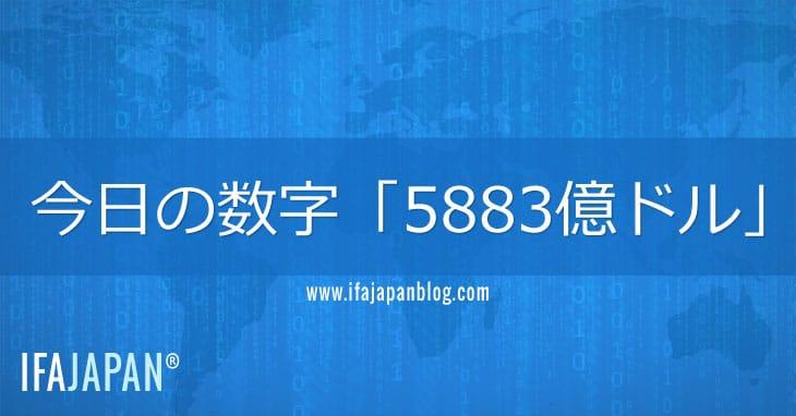 今日の数字「5883億ドル」-IFA-JAPAN-Blog